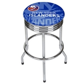 NHL Chrome Ribbed Bar Stool - New York Islanders