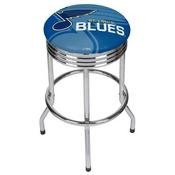 NHL Chrome Ribbed Bar Stool - St. Louis Blues