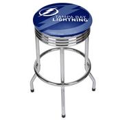 NHL Chrome Ribbed Bar Stool - Tampa Bay Lightning
