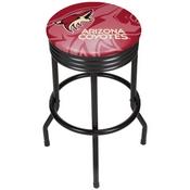 NHL Black Ribbed Bar Stool - Arizona Coyotes