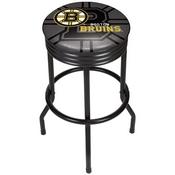 NHL Black Ribbed Bar Stool - Boston Bruins