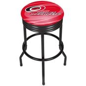 NHL Black Ribbed Bar Stool - Carolina Hurricanes