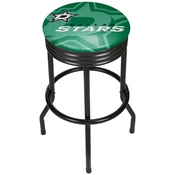 NHL Black Ribbed Bar Stool - Dallas Stars