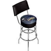 NHL Swivel Bar Stool with Back - Watermark - Buffalo Sabres