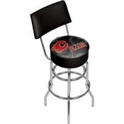 NHL Swivel Bar Stool with Back - Watermark - Calgary Flames