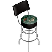 NHL Swivel Bar Stool with Back - Watermark - Minnesota Wild