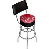 NHL Swivel Bar Stool with Back - Watermark - New Jersey Devils