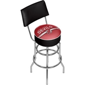 NHL Swivel Bar Stool with Back - New Jersey Devils