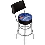NHL Swivel Bar Stool with Back - Watermark - New York Islanders