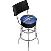 NHL Swivel Bar Stool with Back - New York Islanders