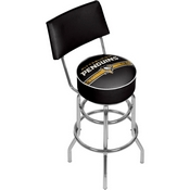 NHL Swivel Bar Stool with Back - Pittsburgh Penguins