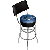 NHL Swivel Bar Stool with Back - Watermark - St. Louis Blues