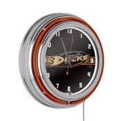 NHL Chrome Double Rung Neon Clock - Anaheim Ducks