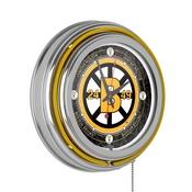 Vintage Boston Bruins Neon Clock - 14 inch Diameter