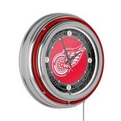 Vintage Detroit Redwings Neon Clock - 14 inch Diameter