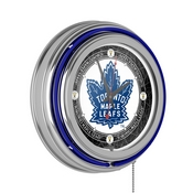 Vintage Toronto Maple Leafs Neon Clock - 14 in Diameter