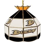NHL 16 Inch Handmade Stained Glass Lamp - Anaheim Ducks