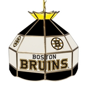 NHL 16 Inch Handmade Stained Glass Lamp - Boston Bruins