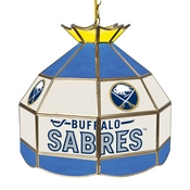 NHL 16 Inch Handmade Stained Glass Lamp - Buffalo Sabres