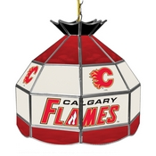 NHL 16 Inch Handmade Stained Glass Lamp - Calgary Flames