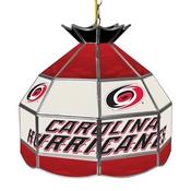 NHL 16 Inch Handmade Stained Glass Lamp - Carolina Hurricane