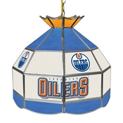 NHL 16 Inch Handmade Stained Glass Lamp - Edmonton Oilers