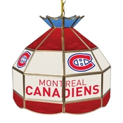 NHL 16 Inch Handmade Stained Glass Lamp - Montreal Canadiens