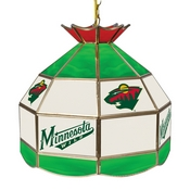 NHL 16 Inch Handmade Stained Glass Lamp - Minnesota Wild