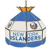 NHL 16 Inch Handmade Stained Glass Lamp - New York Islanders
