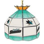 NHL 16 Inch Handmade Stained Glass Lamp - San Jose Sharks