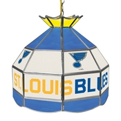 NHL 16 Inch Handmade Stained Glass Lamp - St. Louis Blues