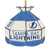 NHL 16 Inch Handmade Stained Glass Lamp - Tampa Bay Lightning
