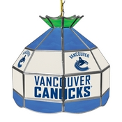 NHL 16 Inch Handmade Stained Glass Lamp - Vancouver Canucks