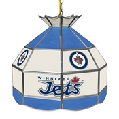 NHL 16 Inch Handmade Stained Glass Lamp - Winnipeg Jets