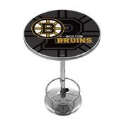 NHL Chrome Pub Table - Watermark - Boston Bruins