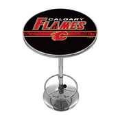 NHL Chrome Pub Table - Calgary Flames