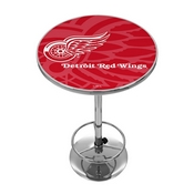 NHL Chrome Pub Table - Watermark - Detroit Redwings