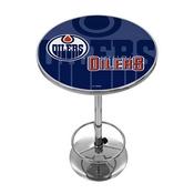 NHL Chrome Pub Table - Watermark - Edmonton Oilers