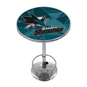 NHL Chrome Pub Table - Watermark - San Jose Sharks