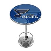 NHL Chrome Pub Table - Watermark - St. Louis Blues