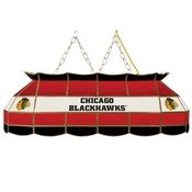 NHL Handmade Stained Glass Lamp - 40 Inch - Chicago Blackhawks