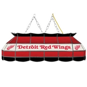 NHL Handmade Stained Glass Lamp - 40 Inch - Detroit Redwings