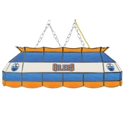 NHL Handmade Stained Glass Lamp - 40 Inch - Edmonton Oilers