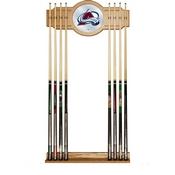 NHL Cue Rack with Mirror - Colorado Avalanche