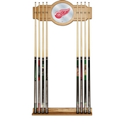 NHL Cue Rack with Mirror - Detroit Redwings