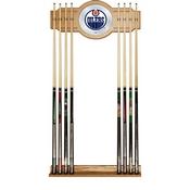 NHL Cue Rack with Mirror - Edmonton Oilers