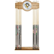 NHL Cue Rack with Mirror - Pittsburgh Penguins