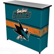 NHL Portable Bar with Case - San Jose Sharks