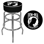 POW Logo Padded Bar Stool - Made In USA