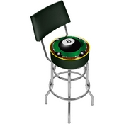 Rack'em 8-Ball Padded Bar Stool with Back